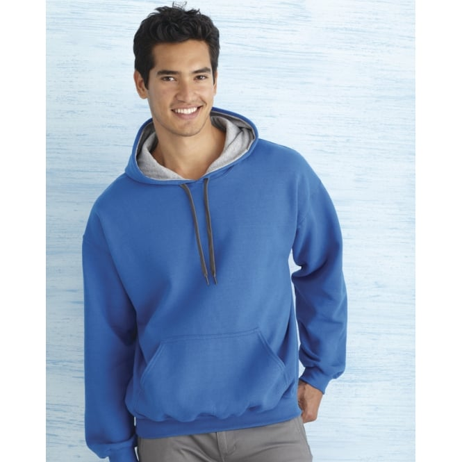 Gildan 185C00 Men's Heavy Blend Contrast Hooded Sweatwhirt