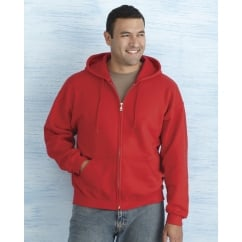 18600 Heavy Blend Adult Full Zip Hooded Sweatshirt Maroon - Size: XL *One Size Only - Outlet Store*