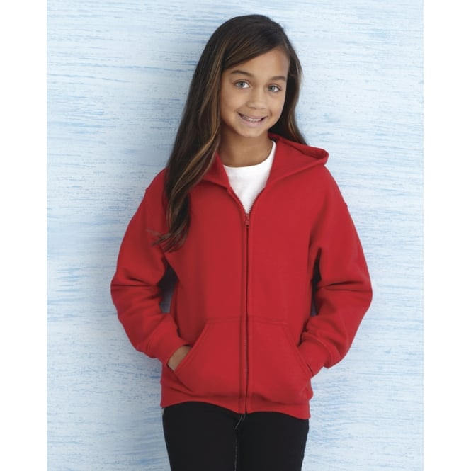 Gildan 18600B Heavy Blend Children's Full Zip Hooded Sweatshirt