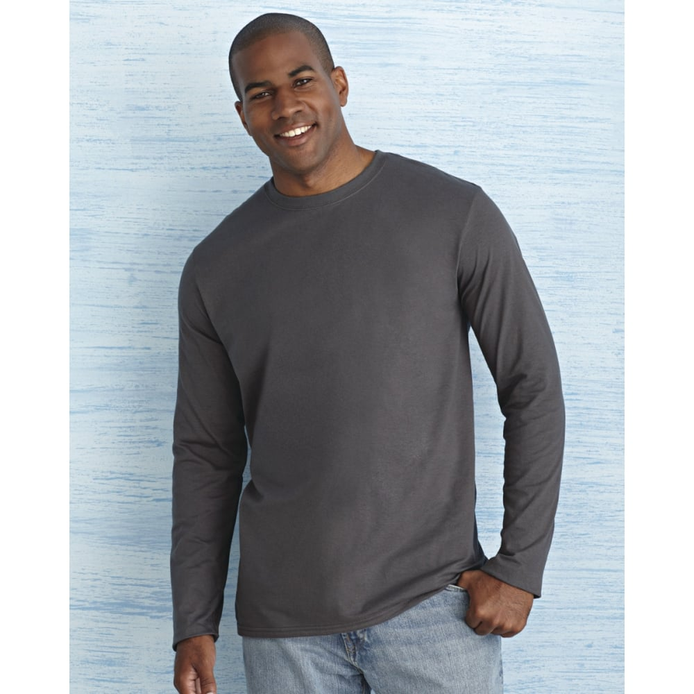 f4f637f7220 Gildan 64400 Men s Soft Style Long Sleeve T-Shirt - Clothing from ...