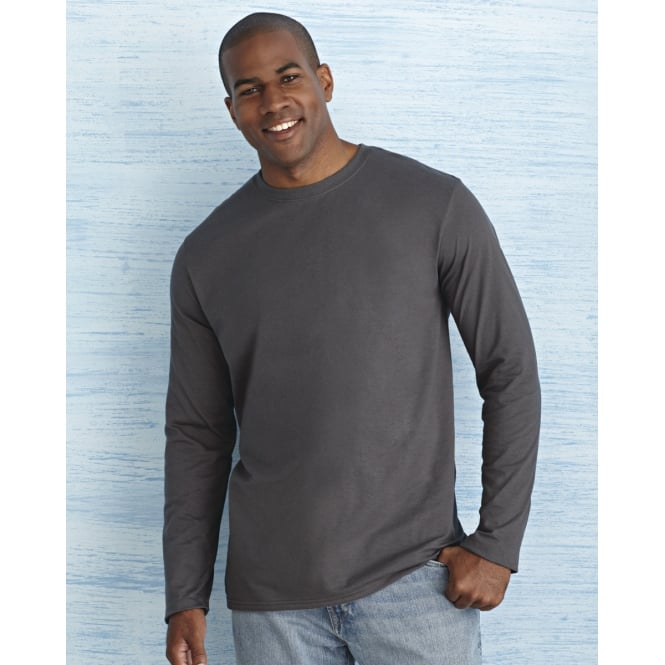 Gildan 64400 Men's Soft Style Long Sleeve T-Shirt
