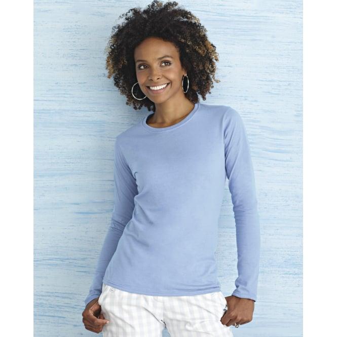 Gildan 64400L Ladies' Soft Style Long Sleeve T-Shirt