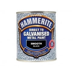 Direct To Galvanised Metal Paint Black 750ml
