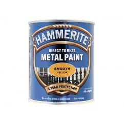 Direct to Rust Smooth Finish Metal Paint Yellow 750ml