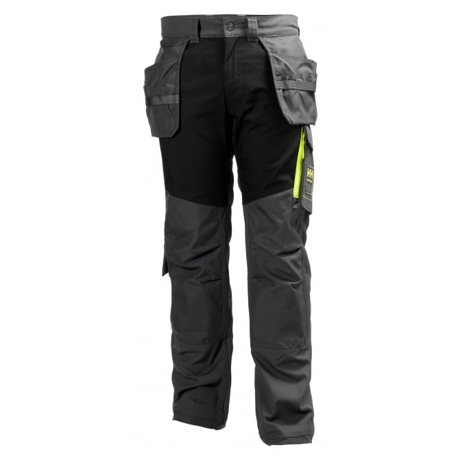 Helly Hansen Aker Cons Pant Dark Grey/Black, Inside Leg: 29.5