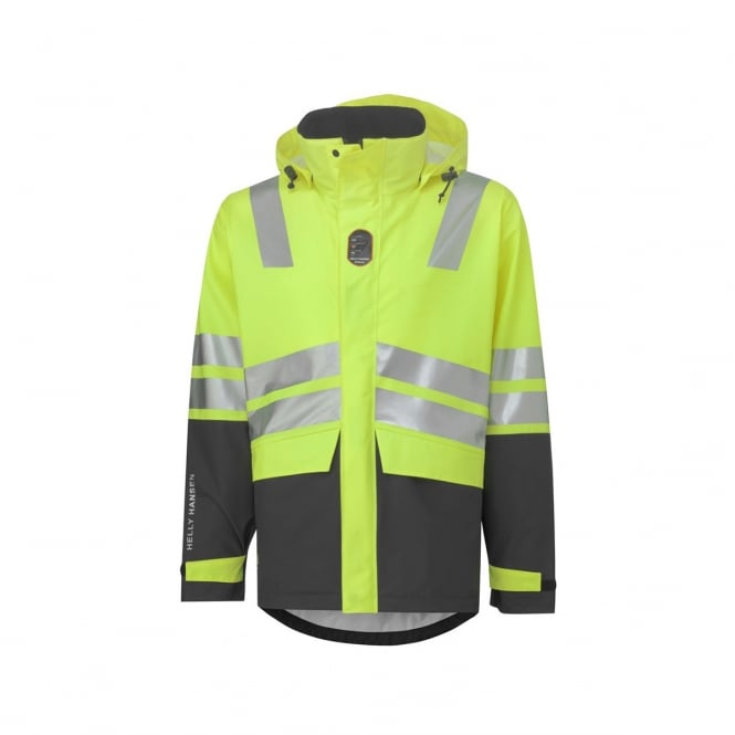 Helly Hansen Asker Hi Vis Flame Retardant Rain Jacket