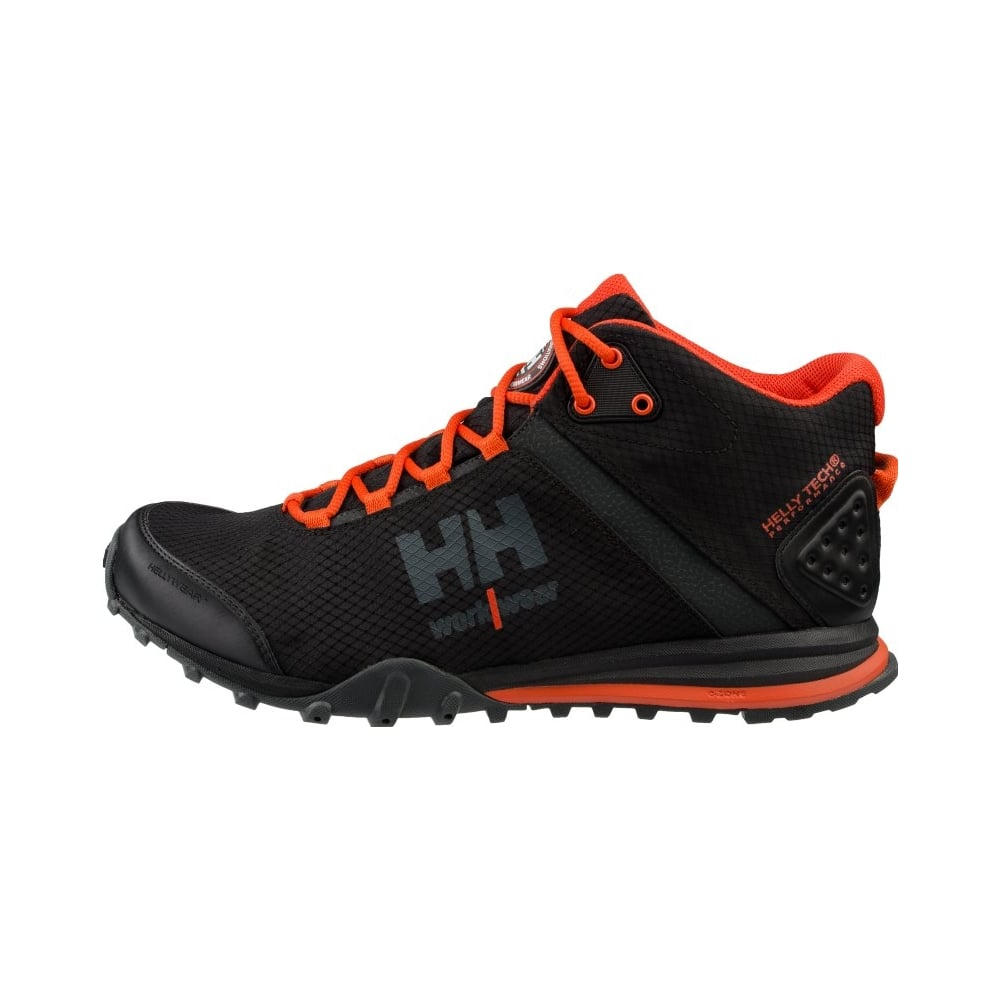 d08a8c5349b Rabbora Trail Mid Hellytech Workwear Black/Orange, Size: 11 *One Size Only  - Outlet Store*