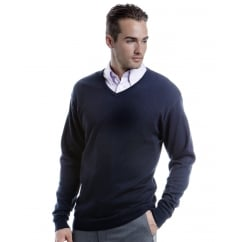 KK352 Men's Arundel Long Sleeve V-Neck Sweater Graphite - Size: L
