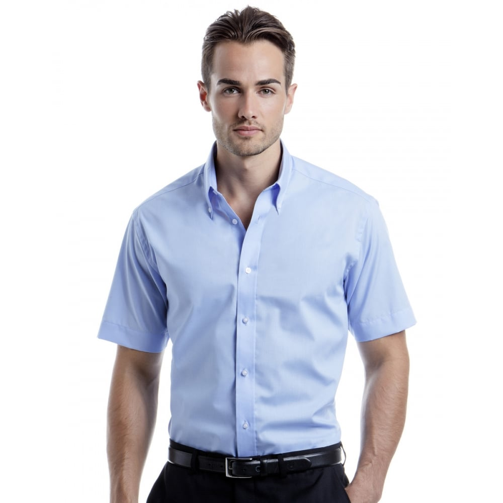 kustom kit kk385 men 39 s city short sleeve business shirt