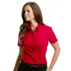 KK701 Ladies' Coporate Oxford Short Sleeve Shirt