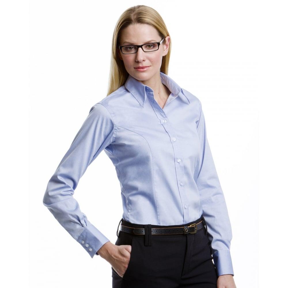 Kustom Kit Kk702 Ladies 39 Corporate Long Sleeve Oxford