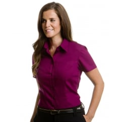 KK719 Ladies' Short Sleeve Corporate Pocket Oxford Shirt