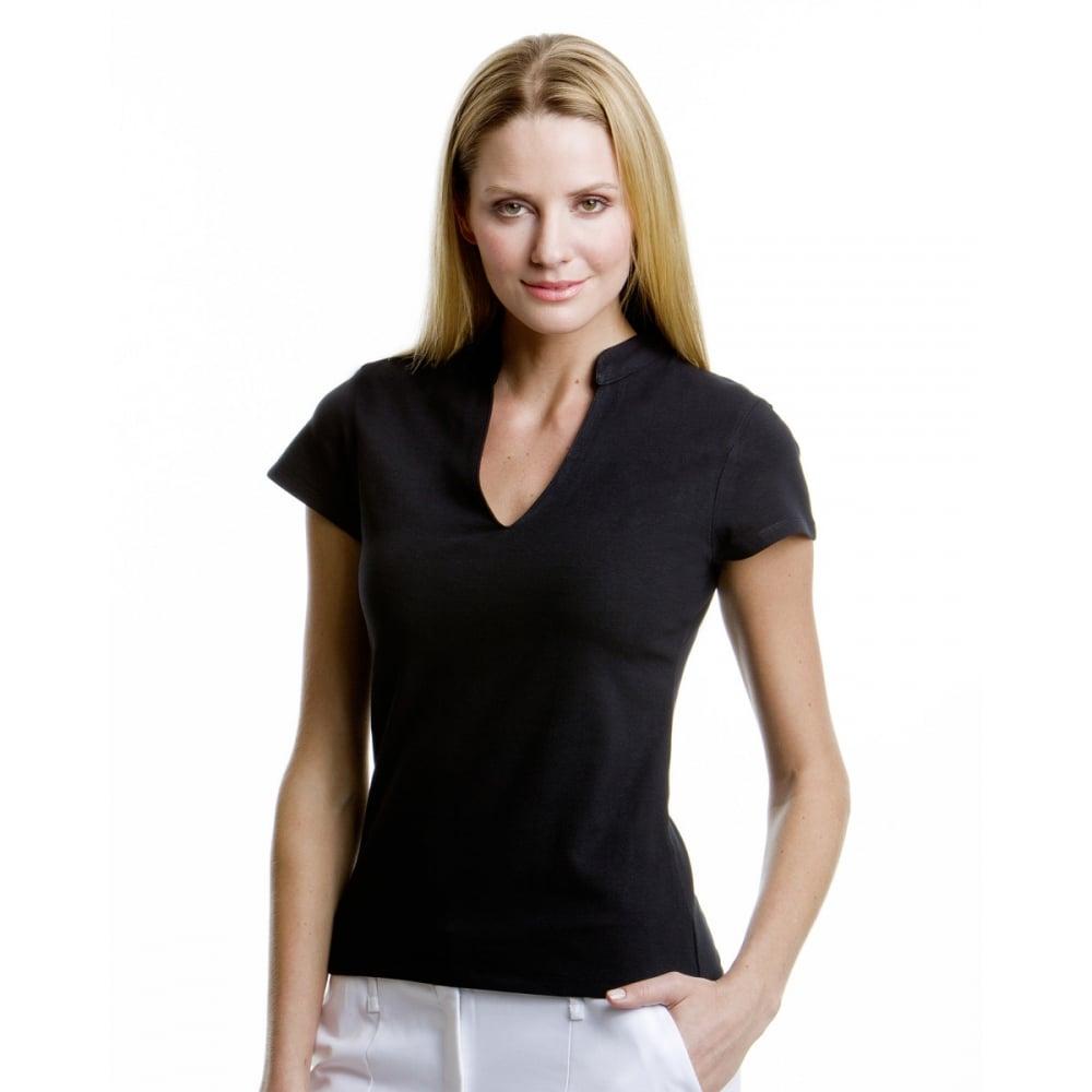 Kustom Kit KK770 Ladies' Corporate Short Sleeve V-Neck ...
