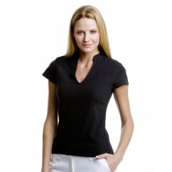 KK770 Ladies' Corporate Short Sleeve V-Neck Mandarin Collar Top