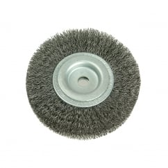 Wheel Brush D200mm x W25-27 x 50 Bore Set 3 Steel Wire 0.30