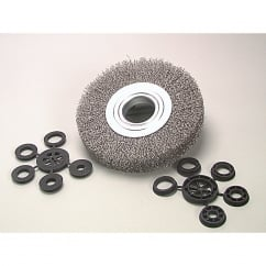 Wheel Brush D200mm x w25-27 x 50 Bore Steel Wire 0.30
