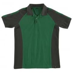 Bottrop Polo Shirt, Green/Black, Size: S *One Size Only - Outlet Store*
