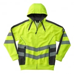 Corby Zipped Sweatshirt, Hi-Vis Yellow/Black, Size: XL *One Size Only - Outlet Store*