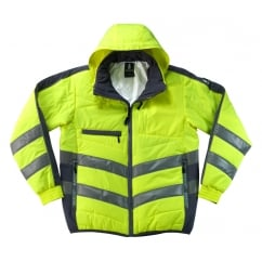 Dartford Thermal Jacket, Hi-Vis Yellow/Dark Navy, Size: M *One Size Only - Outlet Store*