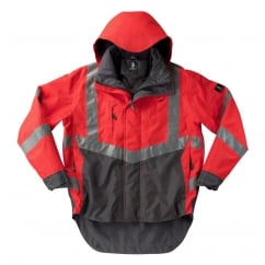 Harlow Outer Shell Jacket, Hi-Vis Red/Dark Anthracite, Size: XL *One Size Only - Outlet Store*
