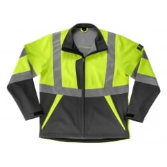Kiama Softshell Jacket, Hi-Vis Yellow/Dark Anthracite, Size: M *One Size Only - Outlet Store*