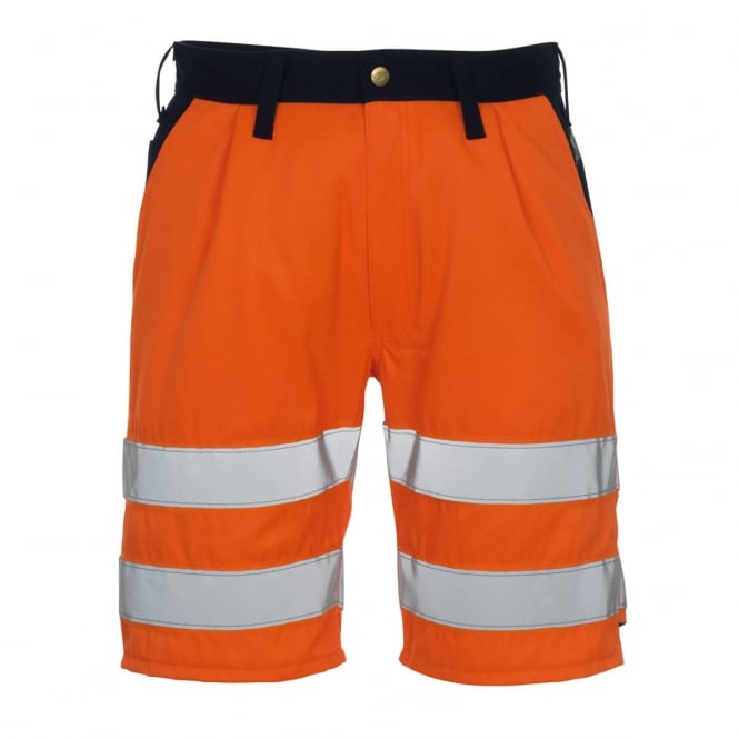 Mascot Workwear Lido Shorts Hi-Vis Orange/Navy