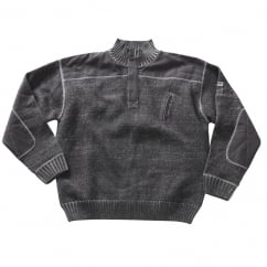 Naxos Knitted Jumper, Light Anthracite, Size: S *One Size Only - Outlet Store*
