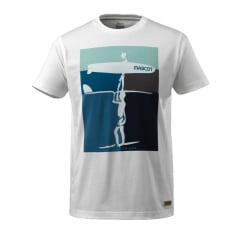 T-shirt with surfer motif