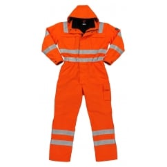 Tombos Winter Boilersuit, Hi-Vis Orange, Size: 2XL *One Size Only - Outlet Store*