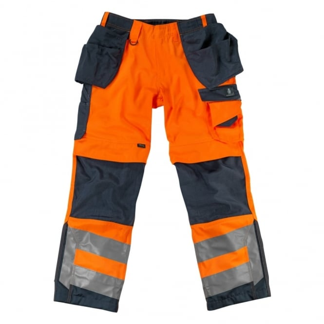 Mascot Workwear Wigan Craftsmen'S Trousers, Hi-Vis Orange/Dark Anthracite, Inside Leg: 30