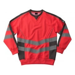 Wigton Sweatshirt, Hi-Vis Red/Dark Anthracite, Size: L *One Size Only - Outlet Store*