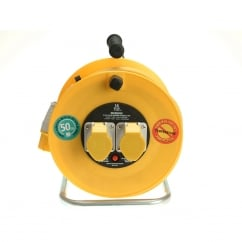 Cable Reel 50 Metre 16A 110 Volt Thermal Cut-Out