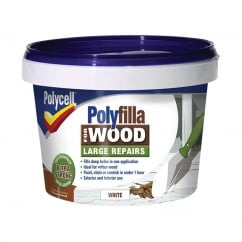 Polyfilla 2 Part Wood Filler White 500g