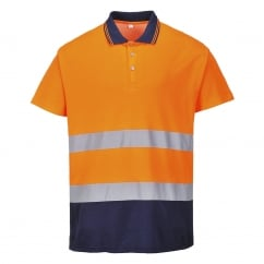 2-Tone Cotton Comfort Polo