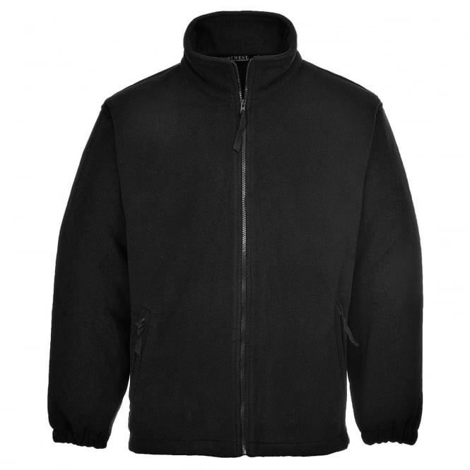 Portwest Aran Fleece Black Size: L *One Size Only - Outlet Store*