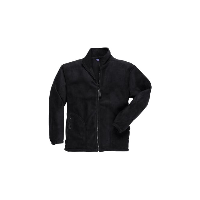 Portwest Argyll Heavy Fleece Black Size: L *One Size Only - Outlet Store*