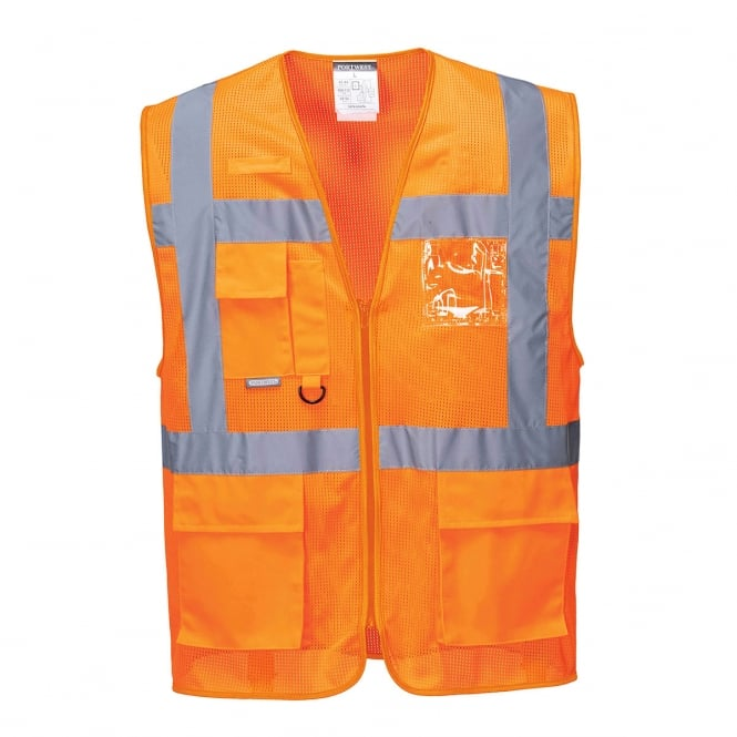 Portwest Athens MeshAir Executive Vest Orange Size: 2XL *One Size Only - Outlet Store*