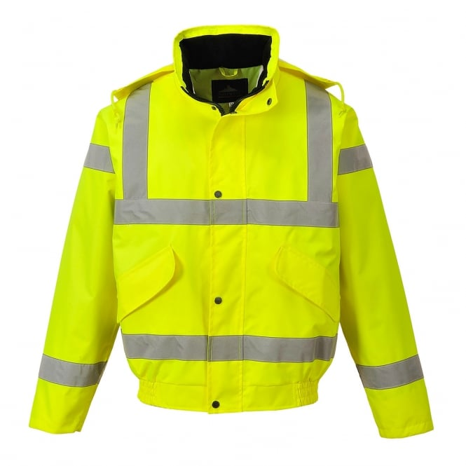 Portwest Class 3 Breathable Bomber Jacket Yellow Size: L *One Size Only - Outlet Store*