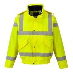 Class 3 Breathable Bomber Jacket Yellow Size: L *One Size Only - Outlet Store*