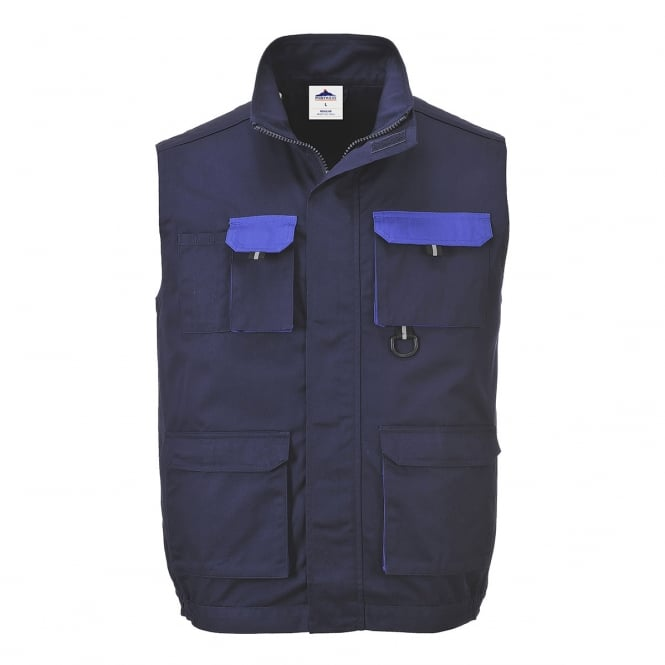 Portwest Contrast Gilet Navy Size: L *One Size Only - Outlet Store*