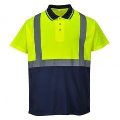 Hi-Vis 2-Tone Polo Shirt Yellow/Navy Size: XL *One Size Only - Outlet Store*