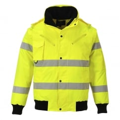 Hi-Vis 3 in 1 Bomber Jacket Yellow Size: XL *One Size Only - Outlet Store*
