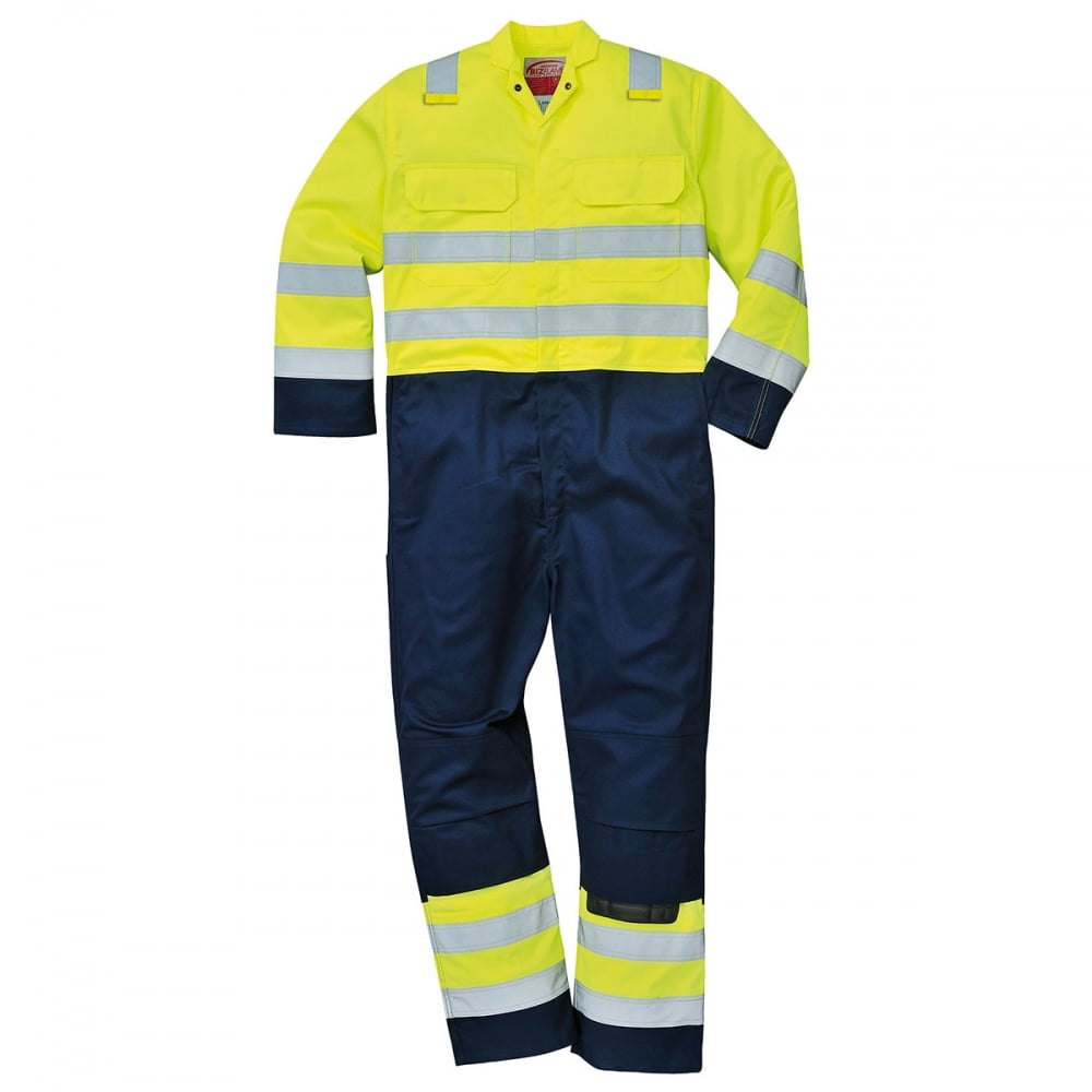 53098858330c Portwest Hi-Vis Anti-Static Bizflame Pro Coverall - Clothing from M.I.  Supplies Limited UK
