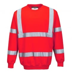 Hi-Vis Sweatshirt Red Size: XL *One Size Only - Outlet Store*