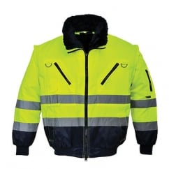 Hi Visibility Pilot Jacket Yellow/Navy Size: 3XL *One Size Only - Outlet Store*