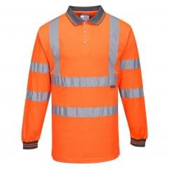 Hi Visibility Polo Shirt Long Sleeved