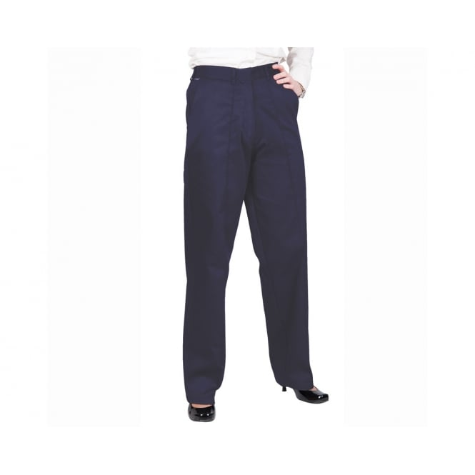 Portwest Ladies Elasticated Trousers Navy - Inside Leg: 31