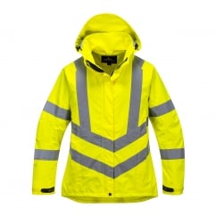 Ladies HiVis Breathable Jacket Yellow Size: XS*One Size Only - Outlet Store*