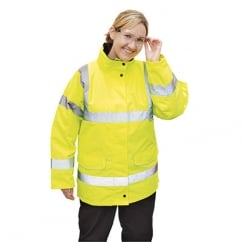 Ladies Traffic Jacket Yellow Size: L *One Size Only - Outlet Store*