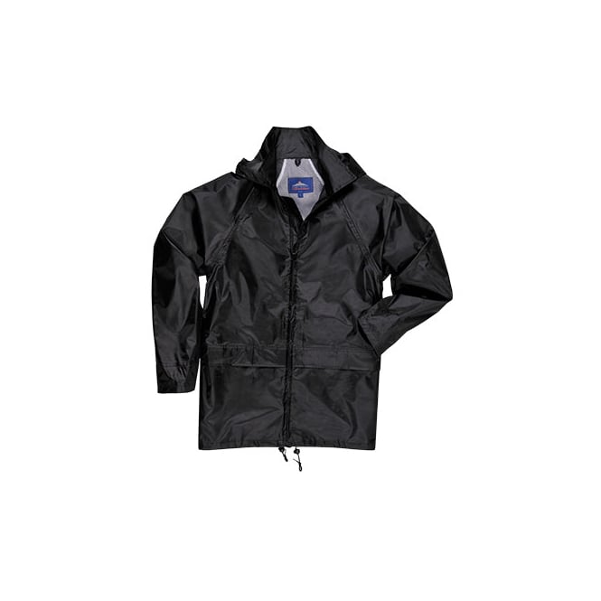 Portwest Rain Jacket Black Size: S *One Size Only - Outlet Store*